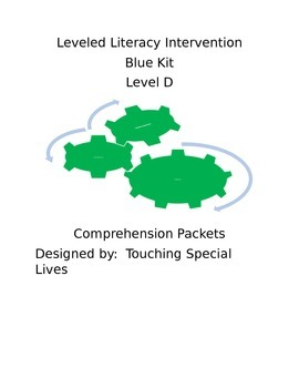 Leveled Literacy Intervention-Green Level D & 13 comprehen