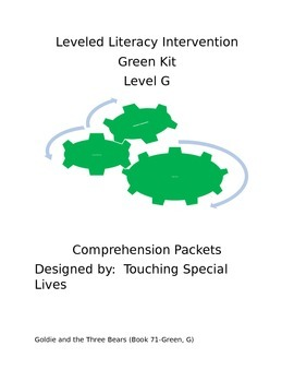 Leveled Literacy Intervention-Green Level G and 19 compreh