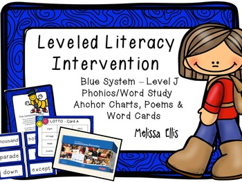 Leveled Literacy Intervention (LLI): Blue Level J: Anchor