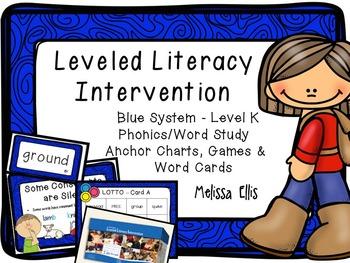 Leveled Literacy Intervention (LLI): Blue Level K Anchor C