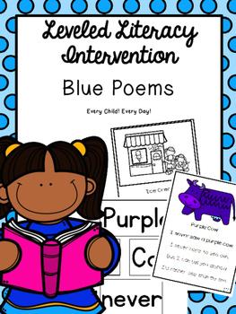 Leveled Literacy Intervention (LLI): Blue Level Poems