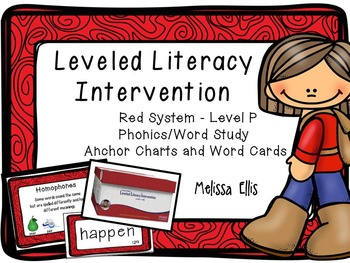 Leveled Literacy Intervention (LLI):  Red Level P: Anchor