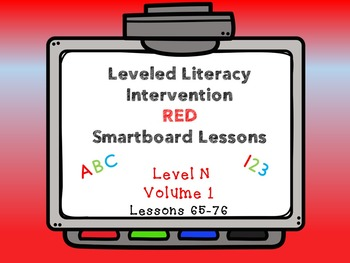 Leveled Literacy Intervention LLI Smartboard Red Level N V