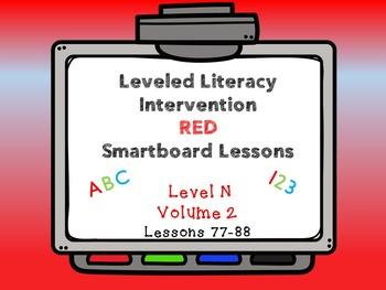 Leveled Literacy Intervention LLI Smartboard Red Level N V