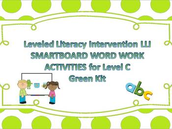 Leveled Literacy Intervention LLI Smartboard Activities Gr