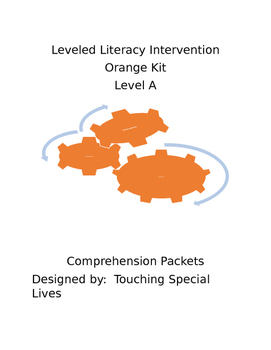 Leveled Literacy Intervention-Orange Level A & 20 comprehe