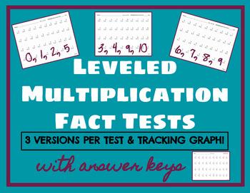 Leveled Multiplication Fact Tests
