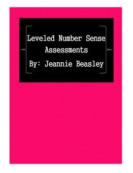 Leveled Number Sense Assessments