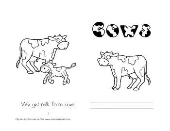Leveled Readers: Farm Unit - Animal Set (cow, horse, sheep