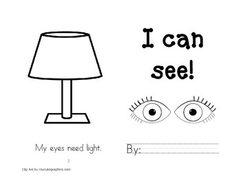 Leveled Readers: Five Senses Unit - Sense of Sight