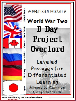 Leveled Reading Passages for Differentiated Learning: WWII  D Day