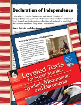 Leveled Texts: Declaration of Independence (eLesson)