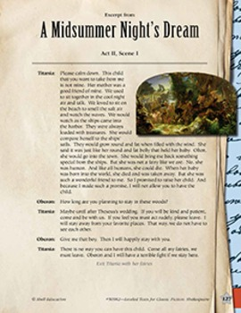 Leveled Texts Shakespeare--A Midsummer Night's Dream-Act I