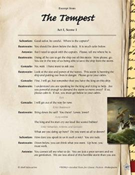 Leveled Texts Shakespeare--The Tempest-Act I, Scene I