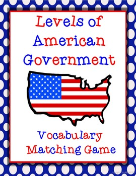 Levels of American Government (Federal, State, & Local) Vo
