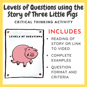 Levels of Questions using the story of the Three Little Pi