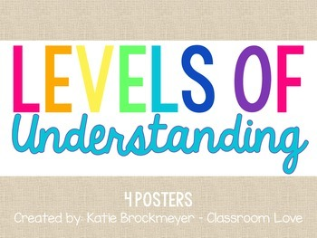 Levels of Understanding Posters- Brights