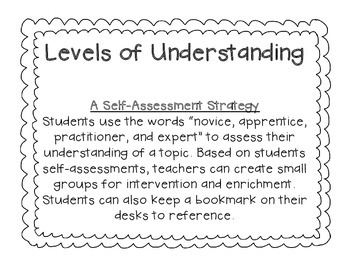 Levels of Understanding - Self Assessment