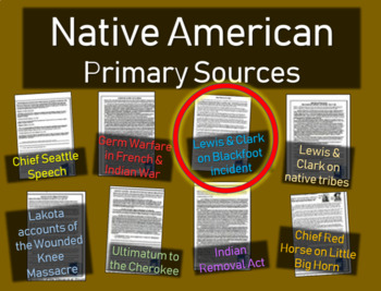 Lewis & Clark Journal (Blackfoot) - Native American Primar