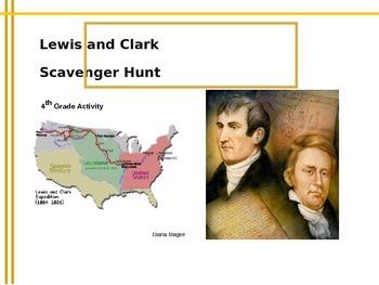 Lewis and Clark Online Scavenger Hunt