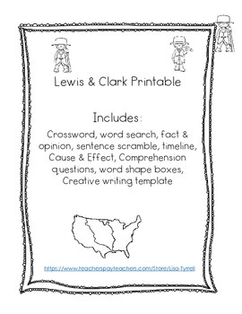 Lewis and Clark Printable