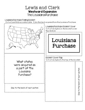 Lewis and Clark Westward Expansion Lapbooks - The Louisian