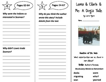 Lewis and Clark and Me Trifold - Reading Street 4th Grade