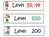 Lexile Level Book Basket Labels