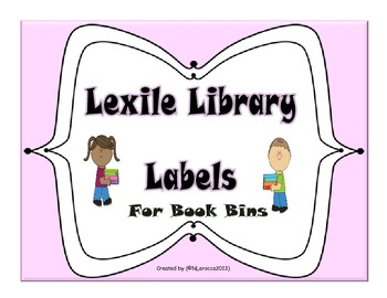 Lexile Library Labels for Book Bins