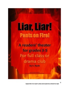 Liar Liar Pants on Fire Play Elementary Script Drama Club