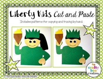 4th of July Liberty Kids Cut and Paste