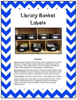 Library Basket Labels