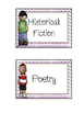 Library Bin Labels with American Hero Labels
