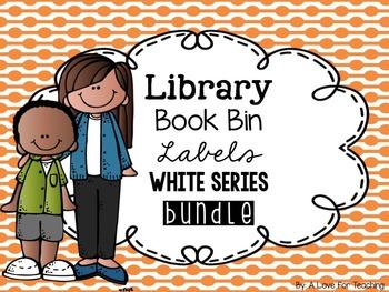 Library Book Bin Labels BUNDLE {White Series}