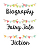 Library Book Bin Labels for Genre, Author, and Series