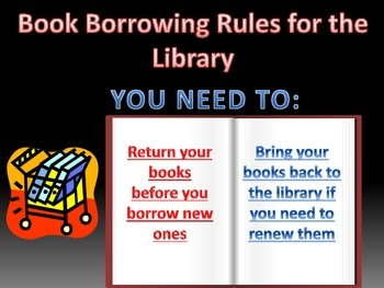 Library Book Borrowing Rules Poster