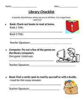 Library Checklist