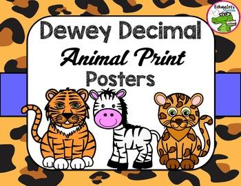 Library Dewey Posters Animal Print Pack + FREE Dewey Guide