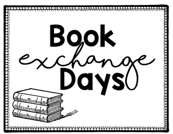 Library Exchange Check Out Posters EDITABLE