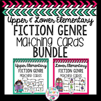 Library Fiction Genre Matching Cards BUNDLE