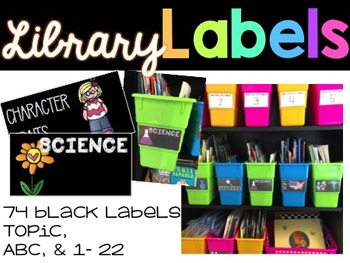 Library Labels - Black
