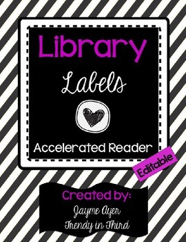 Library Labels: Black & White (Accelerated Reader)