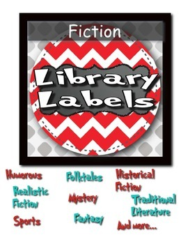 Library Labels Blue and Red