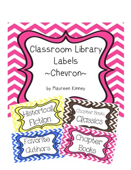 Library Labels Chevron