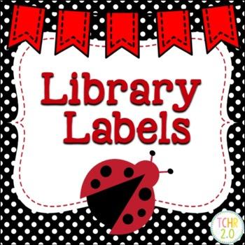 Ladybug Library Labels Editable