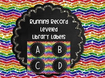 Library Labels Leveled Running Record or Guided Reading Se