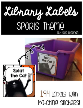 Library Labels - Sports Theme
