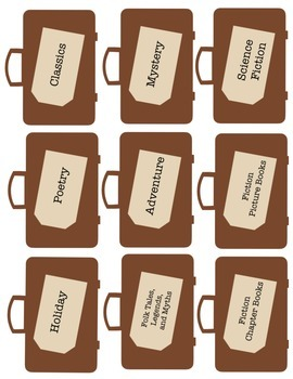 Library Labels - Suitcases
