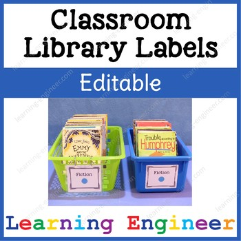 2nd Grade Classroom Library Labels, 3rd Grade Library Labe