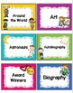 Library Labels for Classroom Library Organization by Genre